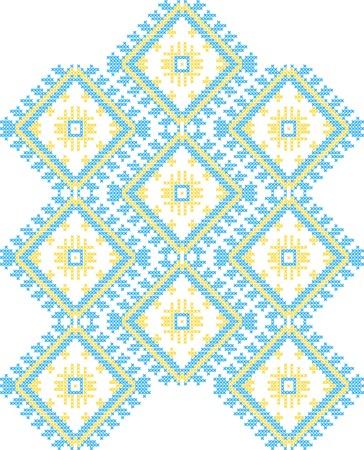 vector background of Ukrainian national ornaments