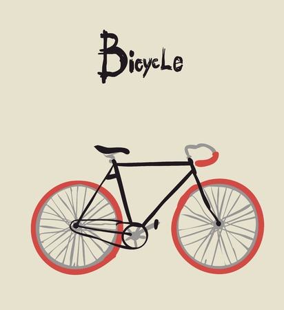 Uitstekende fiets. Vector illustratie van vintage fiets