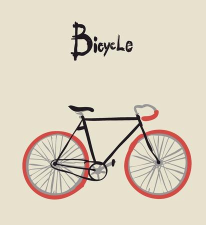 Vintage bicycle. Vector illustration of  vintage bicycle Ilustracja