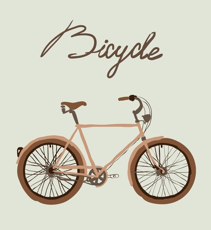 Vintage bicycle. Vector illustration of  vintage bicycle Vector