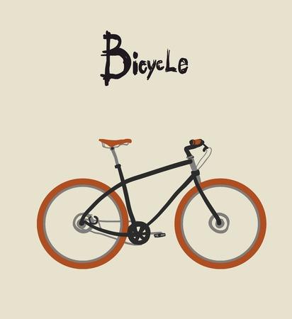 ビンテージ自転車。ビンテージ自転車のベクトル イラスト  イラスト・ベクター素材