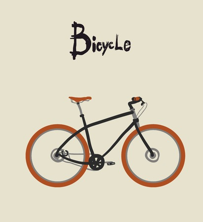 Vintage bicycle. Vector illustration of  vintage bicycle 向量圖像