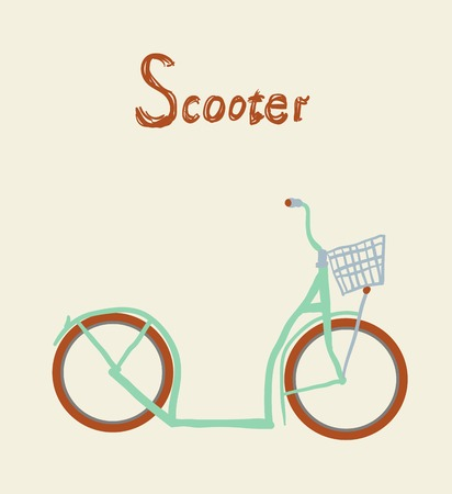 Illustration of vintage vector scooter Vector