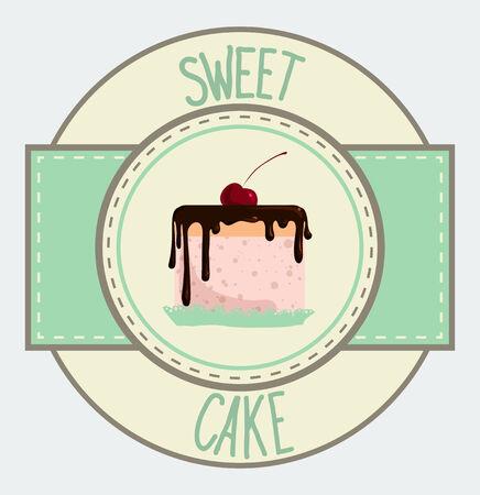 vecyor illustration Vintage sweet cupcake poster design Vector