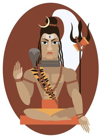 vector illustration of Hindu deity lord Shiva Stock Vector - 28177888