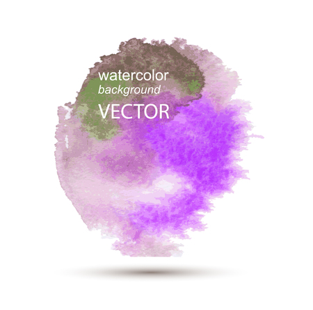 water stained: Abstract vector watercolor textured hand painted background