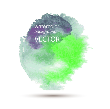 Abstract vector watercolor textured hand painted background Vector