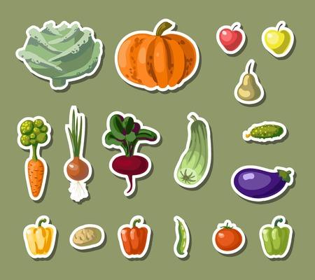 根野菜ベクトル イラスト ビンテージ庭バナー  イラスト・ベクター素材