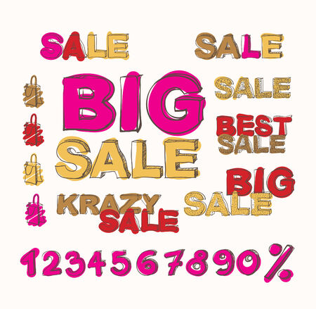 vector illustration of big sale poster with different element Vector