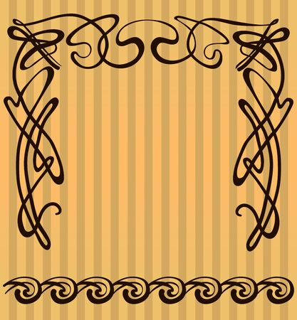 decorative items: vector decorative items and scope in modern style Illustration