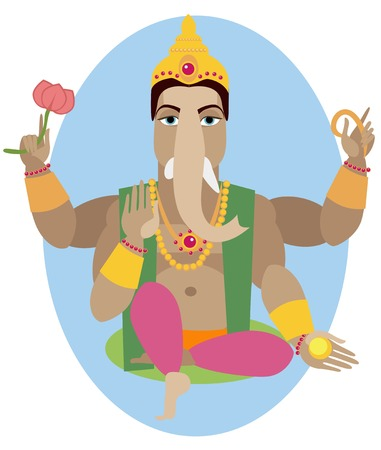 lord ganesha: ilustraci�n de la estatua de Ganesha Chaturthi