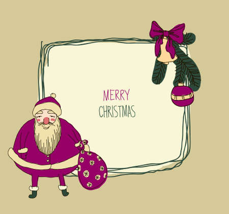 old fashioned: Vintage Metal Sign - Merry Christmas old fashioned Illustration