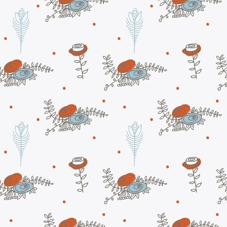 ornament seamless of floral graphic design elements graphic, wreaths, ribbons Vector