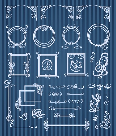 decorative items and scope in modern style Illustration