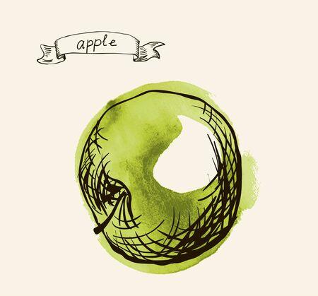 useful: fresh useful eco-friendly apple