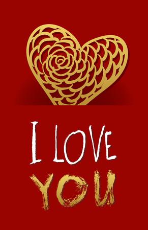 matrimonio feliz: Coraz?n de papel de fondo D?a de San Valent?n tarjeta vector