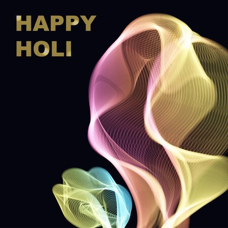 gulal: Colorful powder paint. Holi festival background. Traditional indian holiday vector.