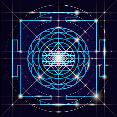 Yantra - direttore cosmica di energia. Yantra Sree. Geometria Sacra