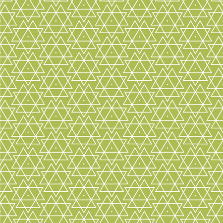 variously: Vector seamless pattern. Modern stylish texture. Repeating geometric background with rhombus and nodes from rhombuses with circles variously sized in nodes