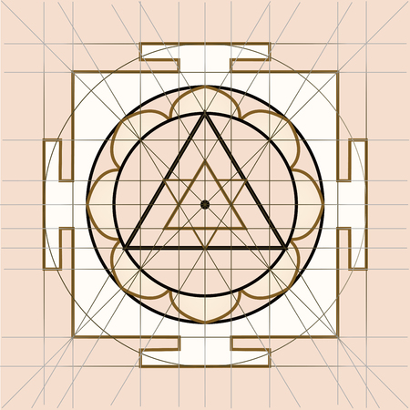 sacred geometry: Yantra - cosmic conductor of energy. Yantra Sree . Sacred Geometry