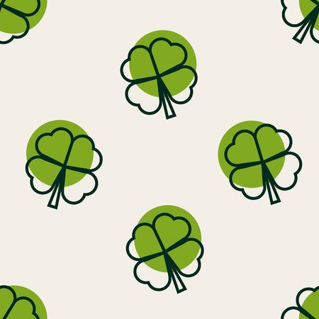 clover background: Seamless vector clover background for St. Patricks Day Illustration