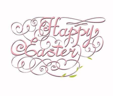 scalable: HAPPY EASTER hand lettering handmade calligraphy scalable and editable vector illustration