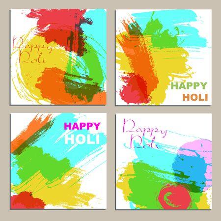 dhulandi: Colorful powder paint. Holi festival background. Traditional indian holiday vector.