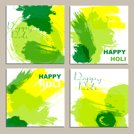 pichkari: Colorful powder paint. Holi festival background. Traditional indian holiday vector.