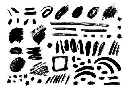 Grunge Brush Stroke. Stock Illustratie