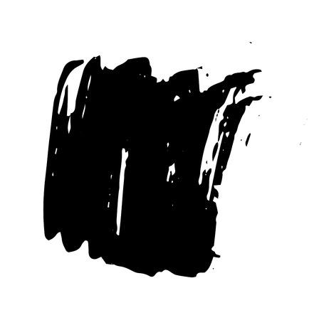 cepillo: Stroke grunge del cepillo. Tiempos de vectores de cepillo. Pincelada angustiado. Pincelada negro. Stroke moderna textura del cepillo. Pincelada seco. conjunto Vectores