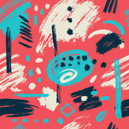 leaking: Vector seamless pattern. Abstract background with brush strokes. hand drawn texture. Modern Textured Brush Stroke . Dry Brush Stroke Illustration