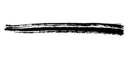 Grunge Brush Stroke . Vector Brush Stroke . Distressed Brush Stroke . Black Brush Stroke . Modern Textured Brush Stroke . Dry Brush Stroke . set  イラスト・ベクター素材