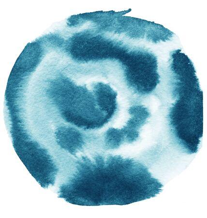 kleur aquarel geschilderd papier textuur abstracte achtergrond. Stockfoto