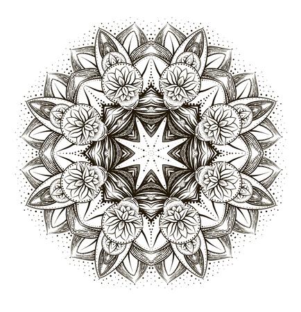 Vector Ornamental Lotus, Ethnischen Henna-Tattoo, Gemustert Indian ...