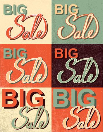 choise: Sale Set. Old-fashioned calligraphy Illustration Illustration