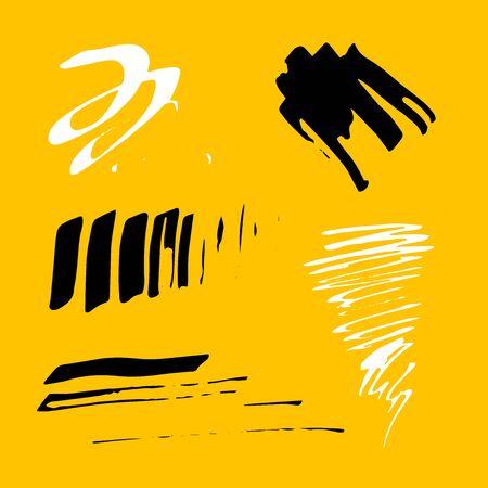 Grunge Ink pen Stroke set Illustration