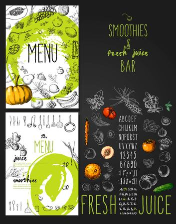 Smoothies and fresh juices bar menu