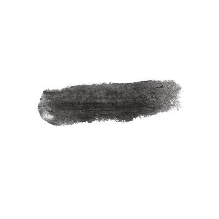 Grunge Vector Distressed Black Modern Textured Dry Brush Stroke Illustration