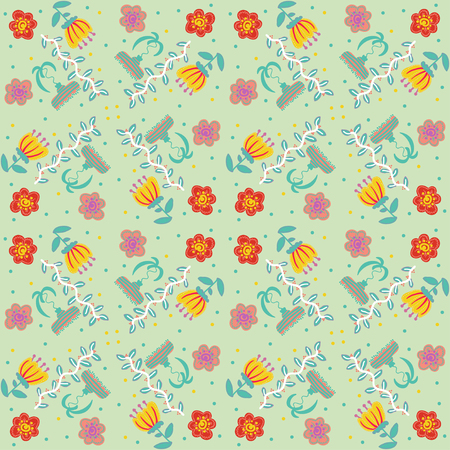 Vector illustration floral vintage background, pattern Illustration