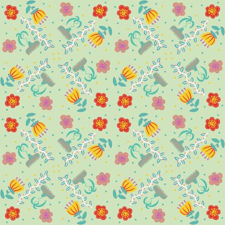 Vector illustration floral vintage background, pattern Ilustrace
