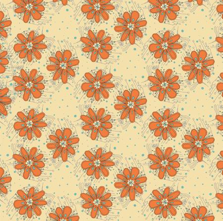 Vector floral background pattern Illustration