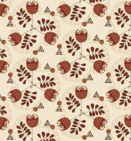 Vector illustration floral vintage background, pattern Illustration
