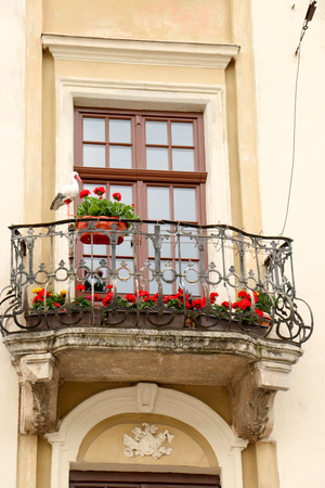 architecture in southern european style. Characteristic style features of the provence and the cote dazur in the mountain Stock Photo
