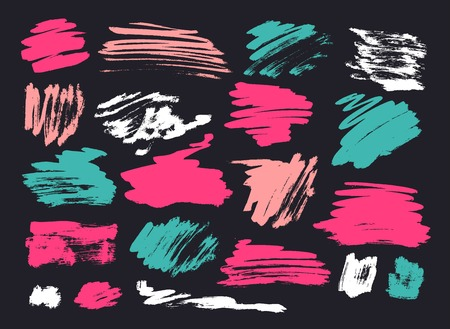 Grunge Brush Stroke set Illustration