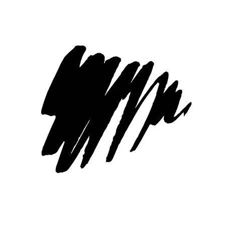 Grunge Ink pen Stroke Vector illustration.