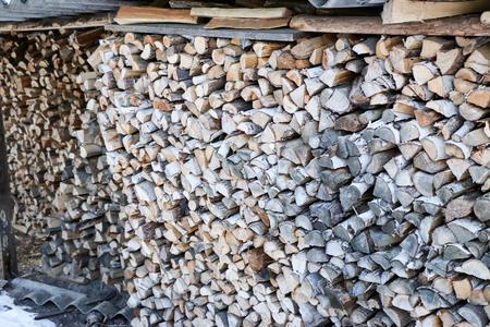 the firewood combined for a furnace kindling Фото со стока