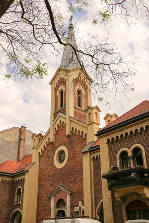 Budapest, Hungary Gothic style Church of St. Elizabeth Stock Photo
