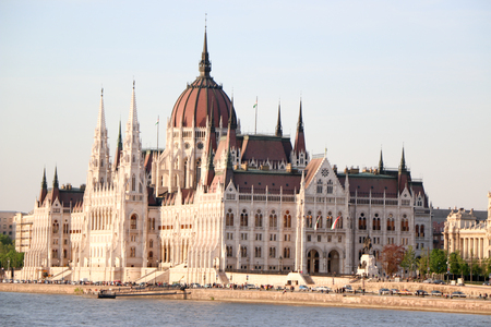 The Hungarian Parliament Building Stock Photo