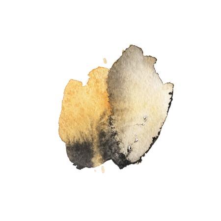 Vector penseelstreek. Grunge inkt pen. Noodlijdende ganzenveer. Zwarte moderne getextureerde pennenstreek. Krullen van een spiraal getekend met inkt door een scherpe veer Vector Illustratie