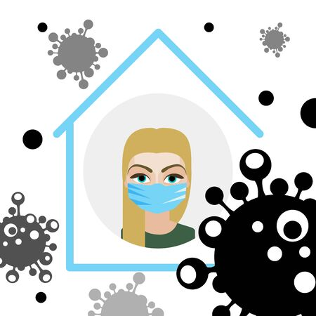 People with mask to protect them from Corona virus, Ilustration vector graphic of Stop Corona Virus. Vector Illustration. virus spread, epidemic